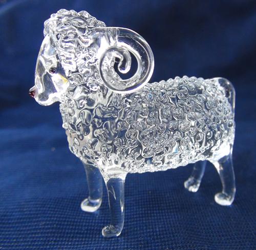 blown glass- sheep