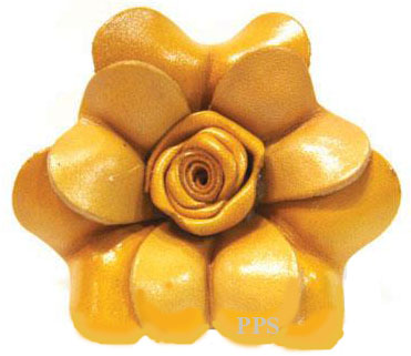 Leather Flower for hair Clips-fl11