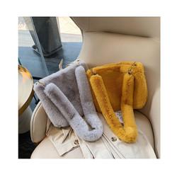 2020 Autumn Winter Candy Color Shoulder Bag Female Large Capacity Plush Underarm Bags Messenger Bag