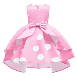 Factory Supplier party long dress baby girl princess wear 8 years girl dress design girls baby party