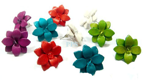 Leather Flower for Earring-e7