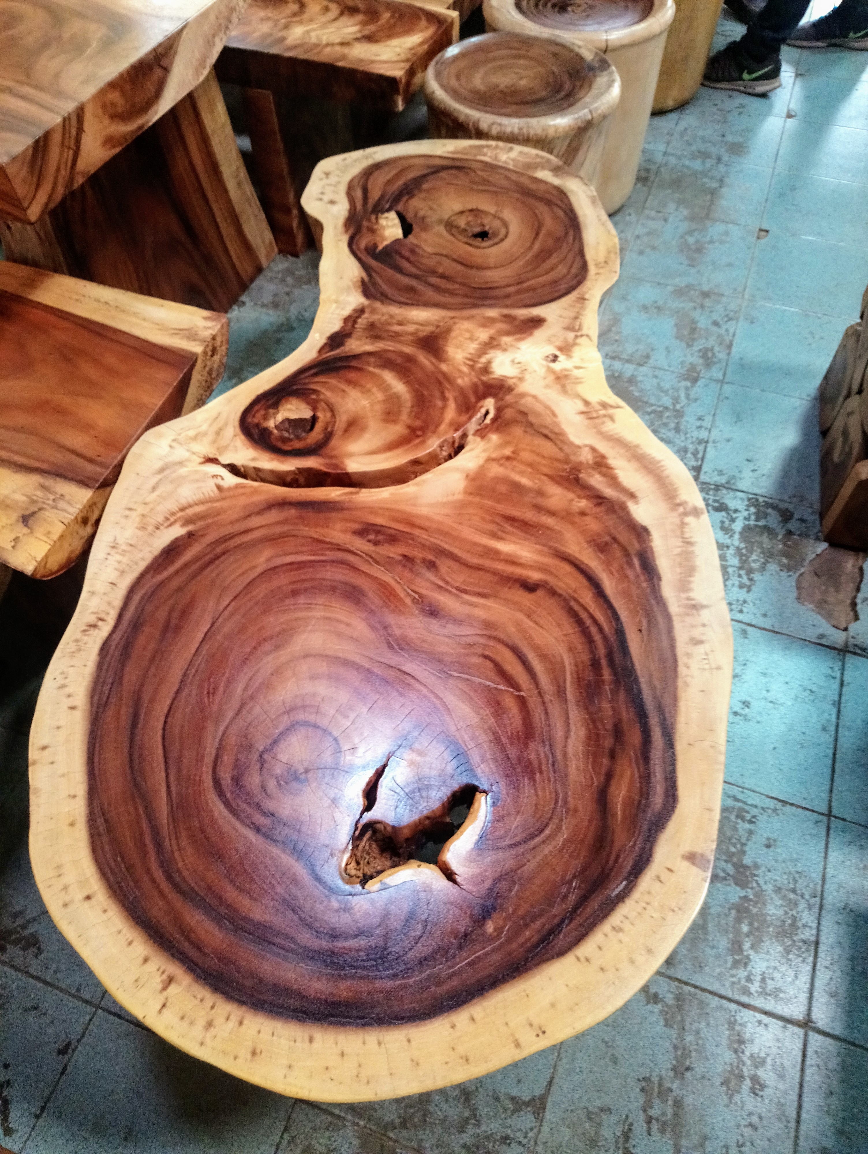 Large Rain Tree Wood Table_1591