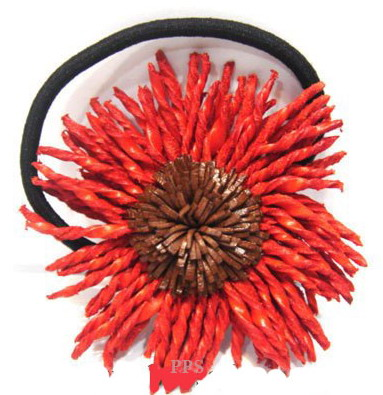 Leather Flower for hair band-h1