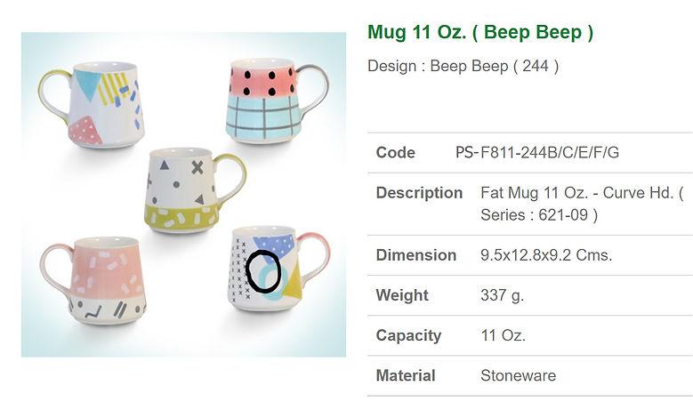 Ceramic mug 11 oz.-Beep Beep.jpg