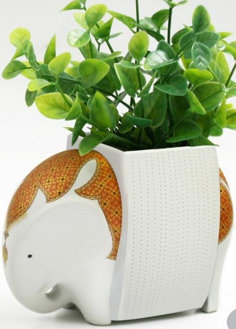 Elephant Ceramic Vase-11