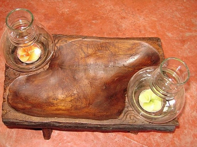 Wood candle holder-CH020-4