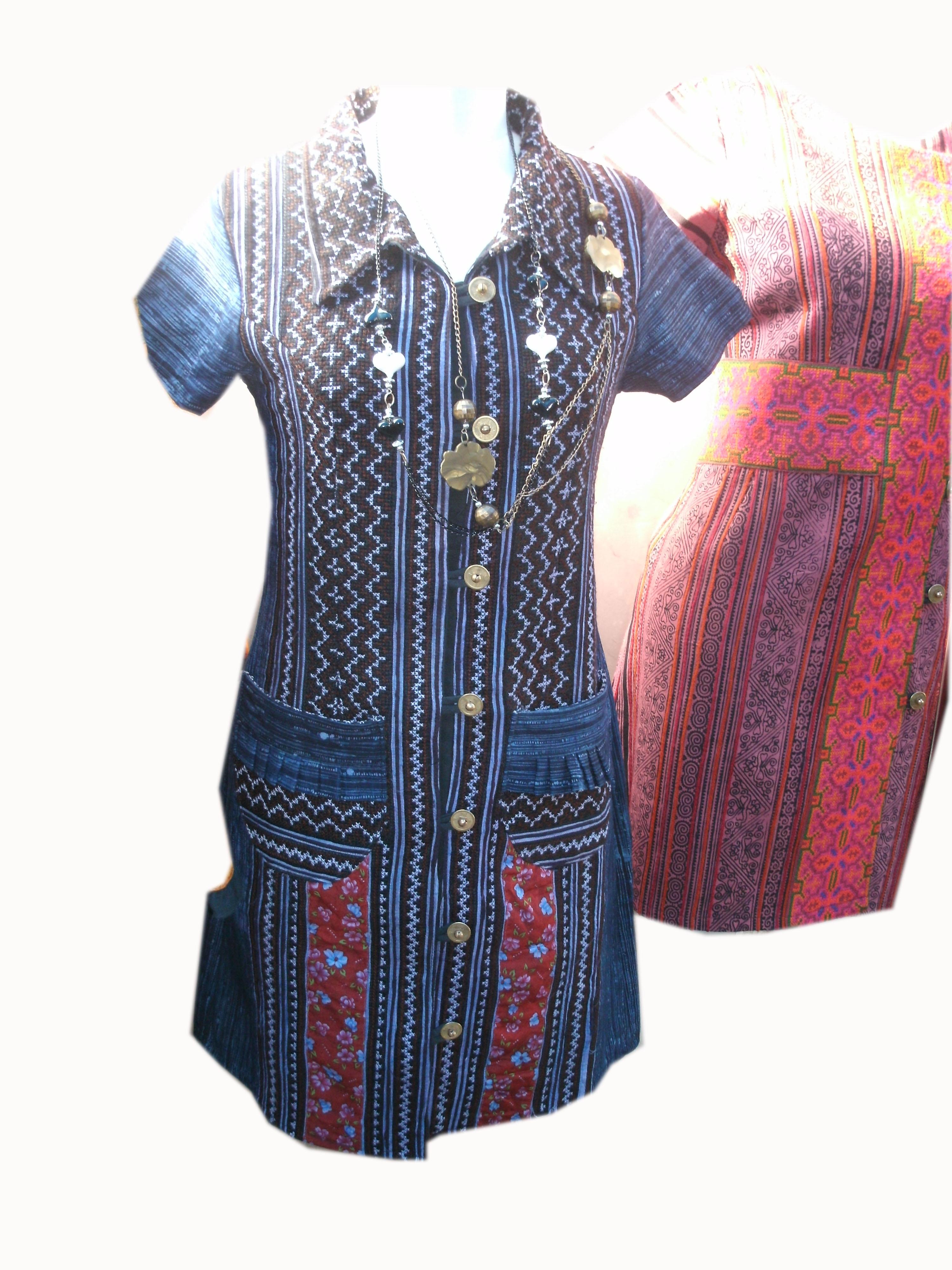 Tribal Pattern Dress-13
