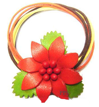 Leather Flower for hair band-h5