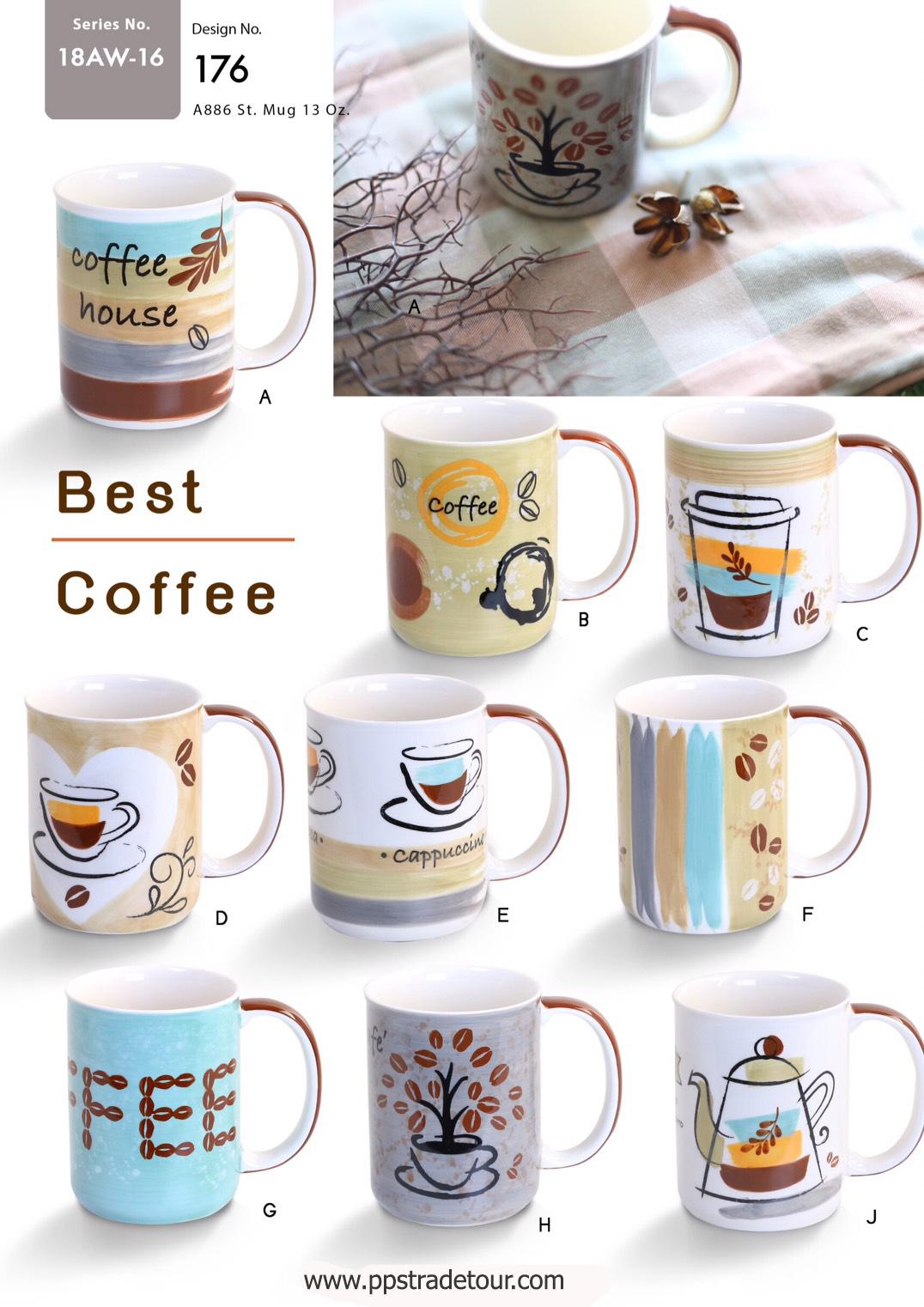 Best Coffee-Ceramic Mug 13 Oz.
