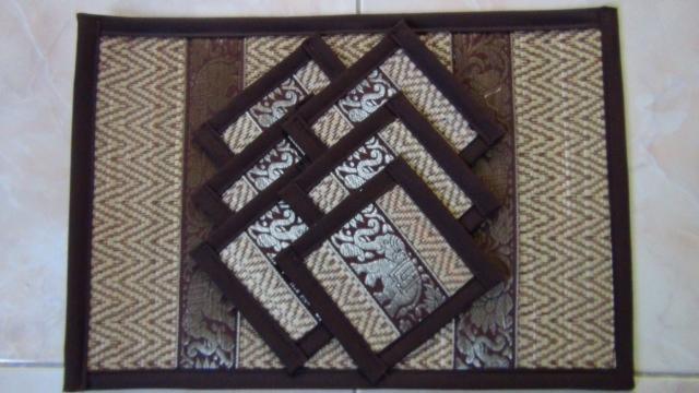 Bamboo plate mat