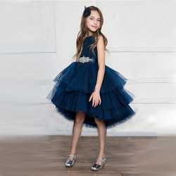Upper Children Fancy Party Dresses Lace Designs Girls Frock Birthday Present Dress L1746