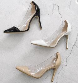 transparent shoe