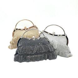 Factory direct sell wholesale bridal wedding party women evening cross body bag ladies crystal handb