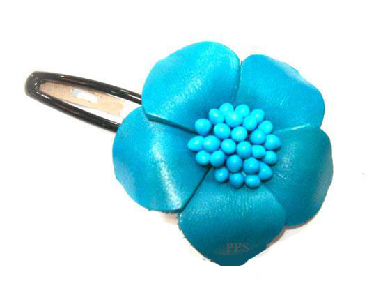Leather Flower for hair Clip-g47