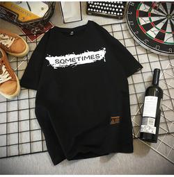 wholesale street style hip hop t-shirt mens loose 100% cotton plus size men t-shirts
