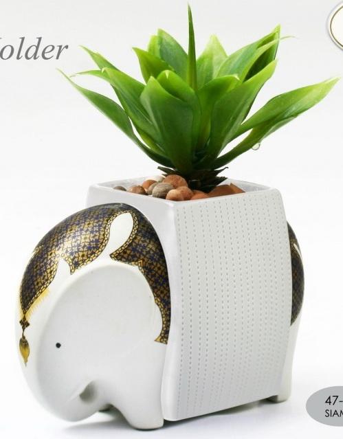 Elephant Ceramic Vase-10