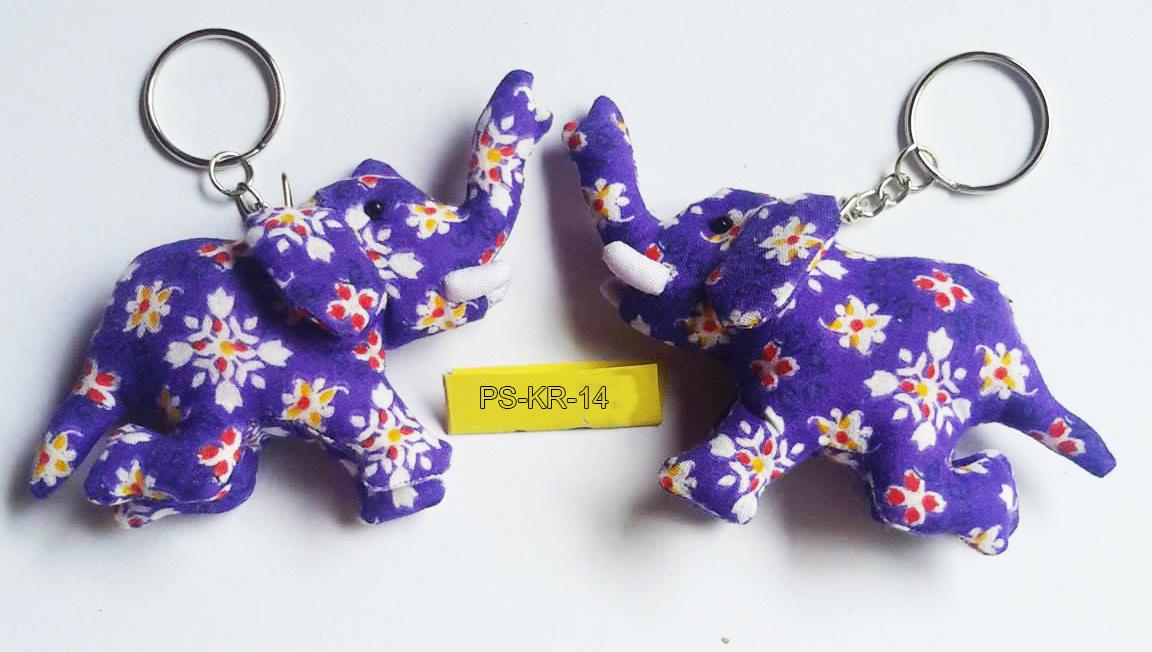 Cotton Elephant keyring-PS-KRA-14