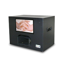 Free shipping wholesale digital hand nail printer with 2 cartridges freely and 3 years guarantee 3 roses printing a time