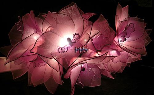 Nylon flower string lights-16