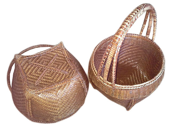 Bamboo basket with handle PS-BB-50