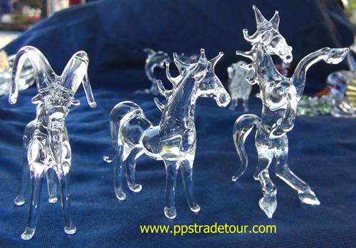 blown glass-Horse