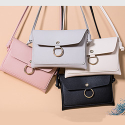 Lady style PU leather women designers handbags purse small shoulder bag for cellphone key sling bag