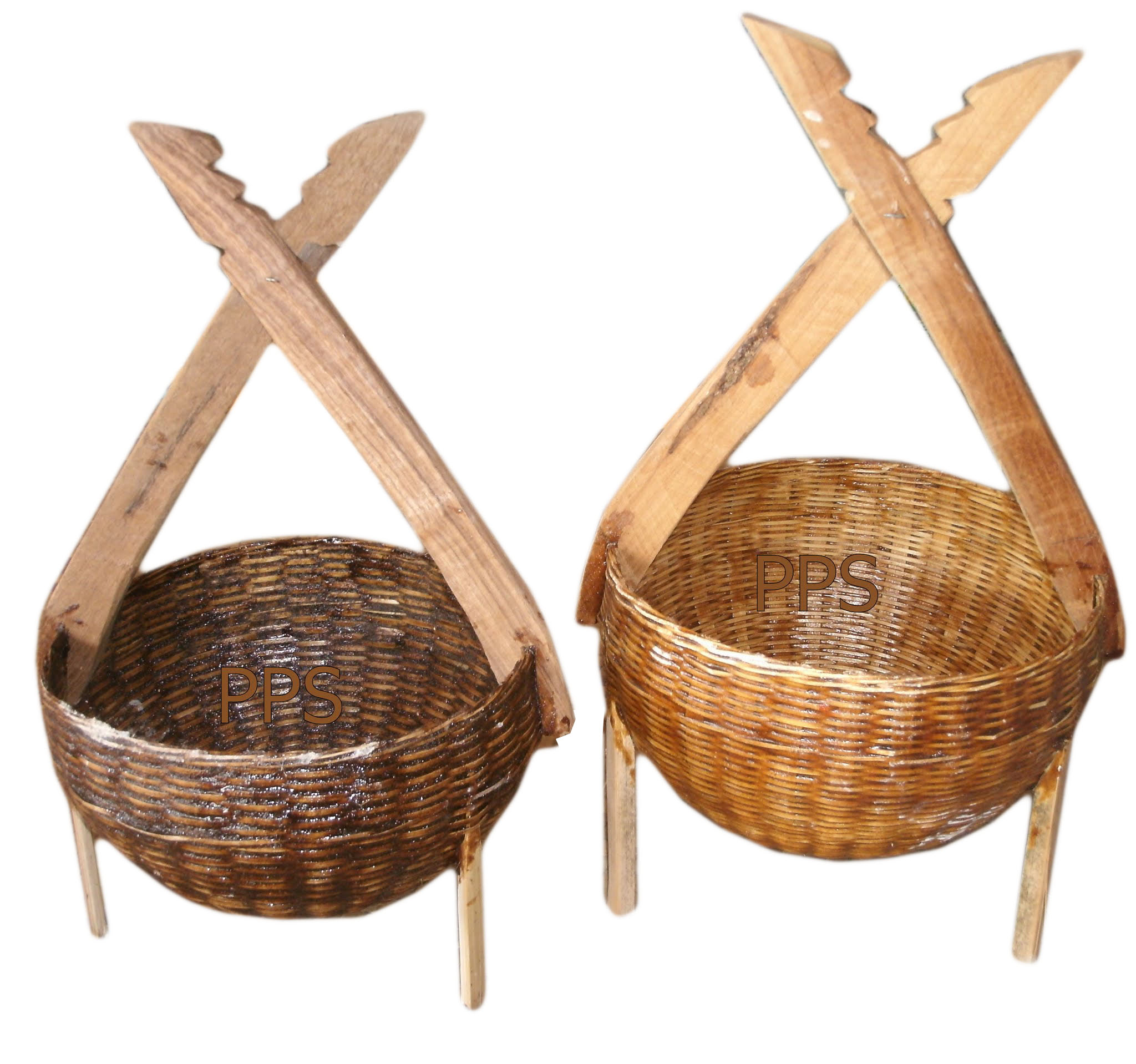 Bamboo basket for flower hanging -77
