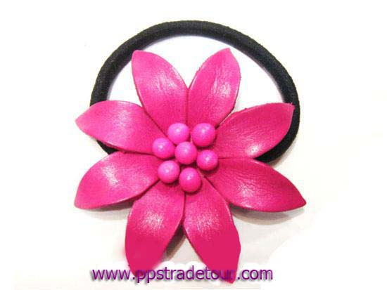 Leather Flower for hair band-h6