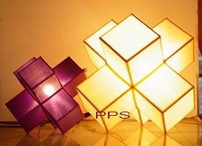 Silk Lamp cube big small-1