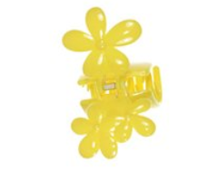 Hair clip none painted RC-230-สามดอกไม้
