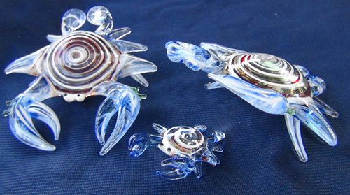 blown glass-crab