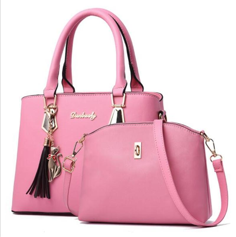 HZAILU 2019 trending lady leather handbag sets ladies bags shoulder set