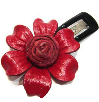 Leather Flower for hair Clip-g50