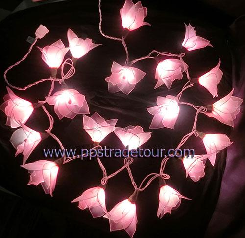Nylon flower string lights-13