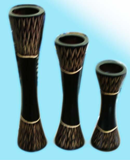 Wood Candle Holder C1839-1
