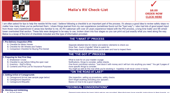 RV Check-list