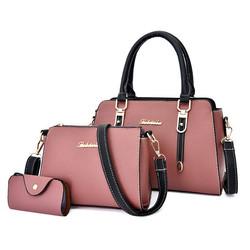 Trendy Purse Bags Women Handbags Leather Ladies Handbag 3 In1