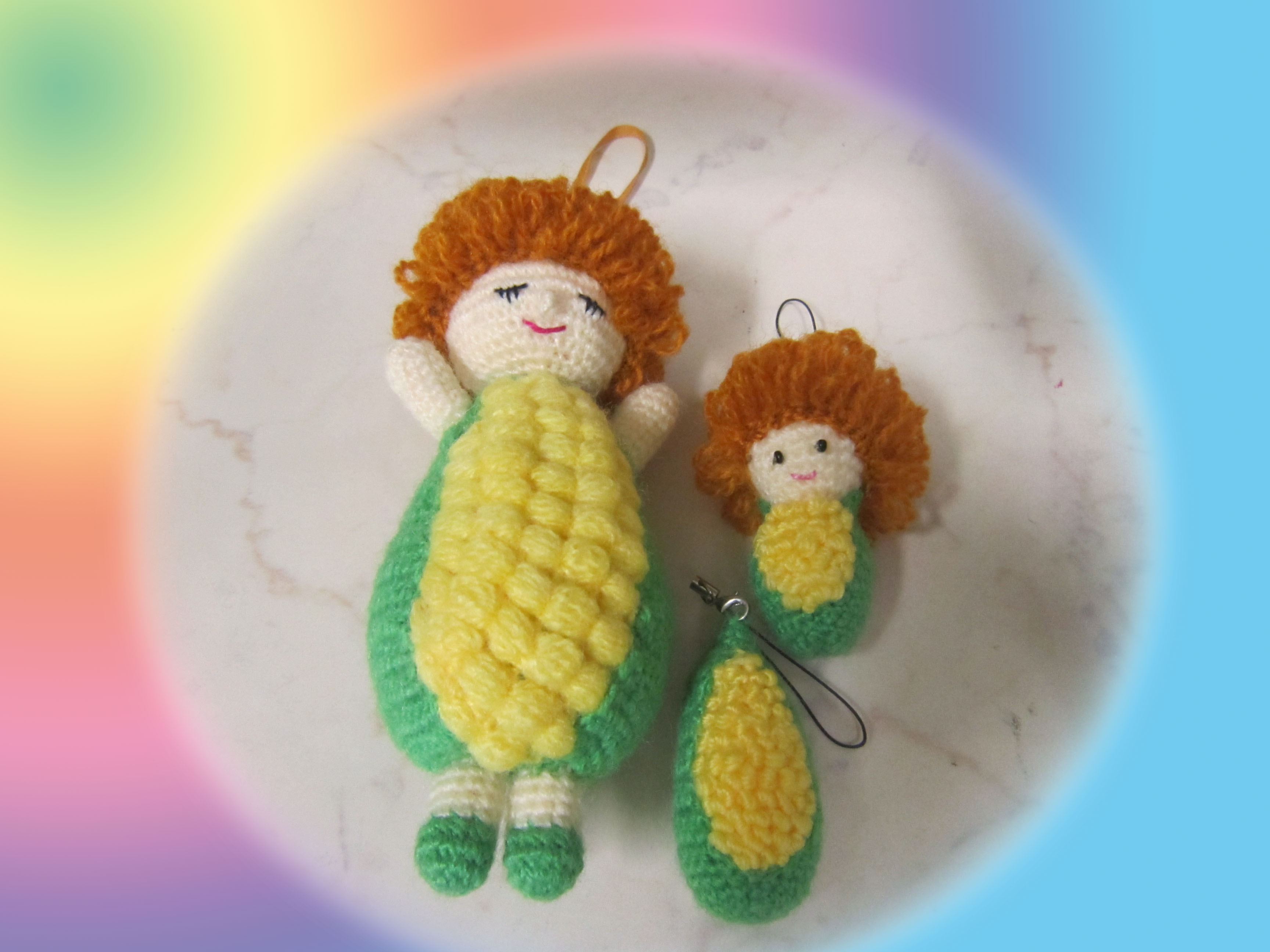 Crochet Doll Keyring-IMG_3565