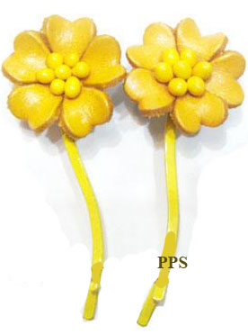 Leather Flower for hair Clips-g52