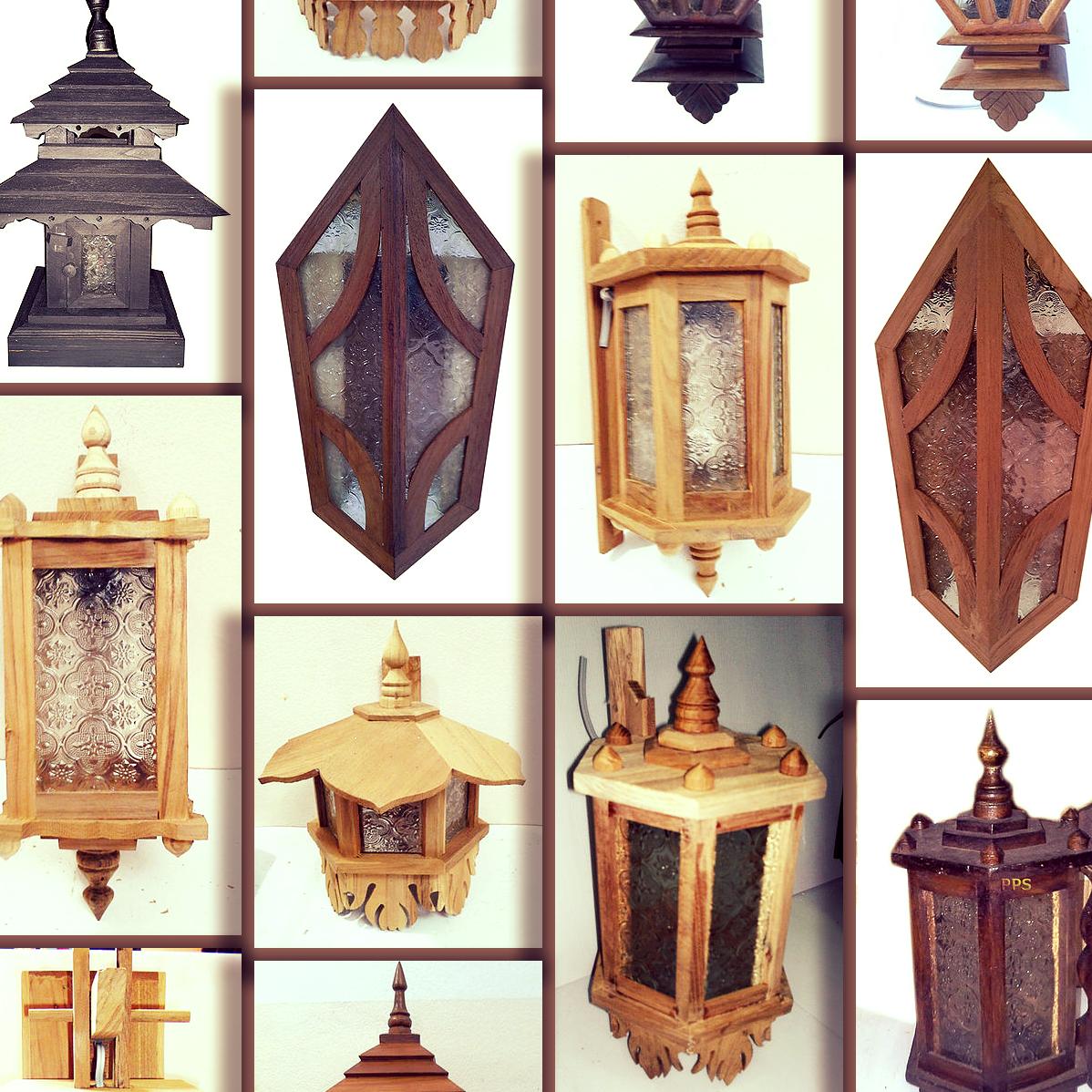 Teak/Wood Lamp