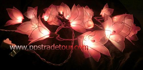 Nylon flower string lights-6