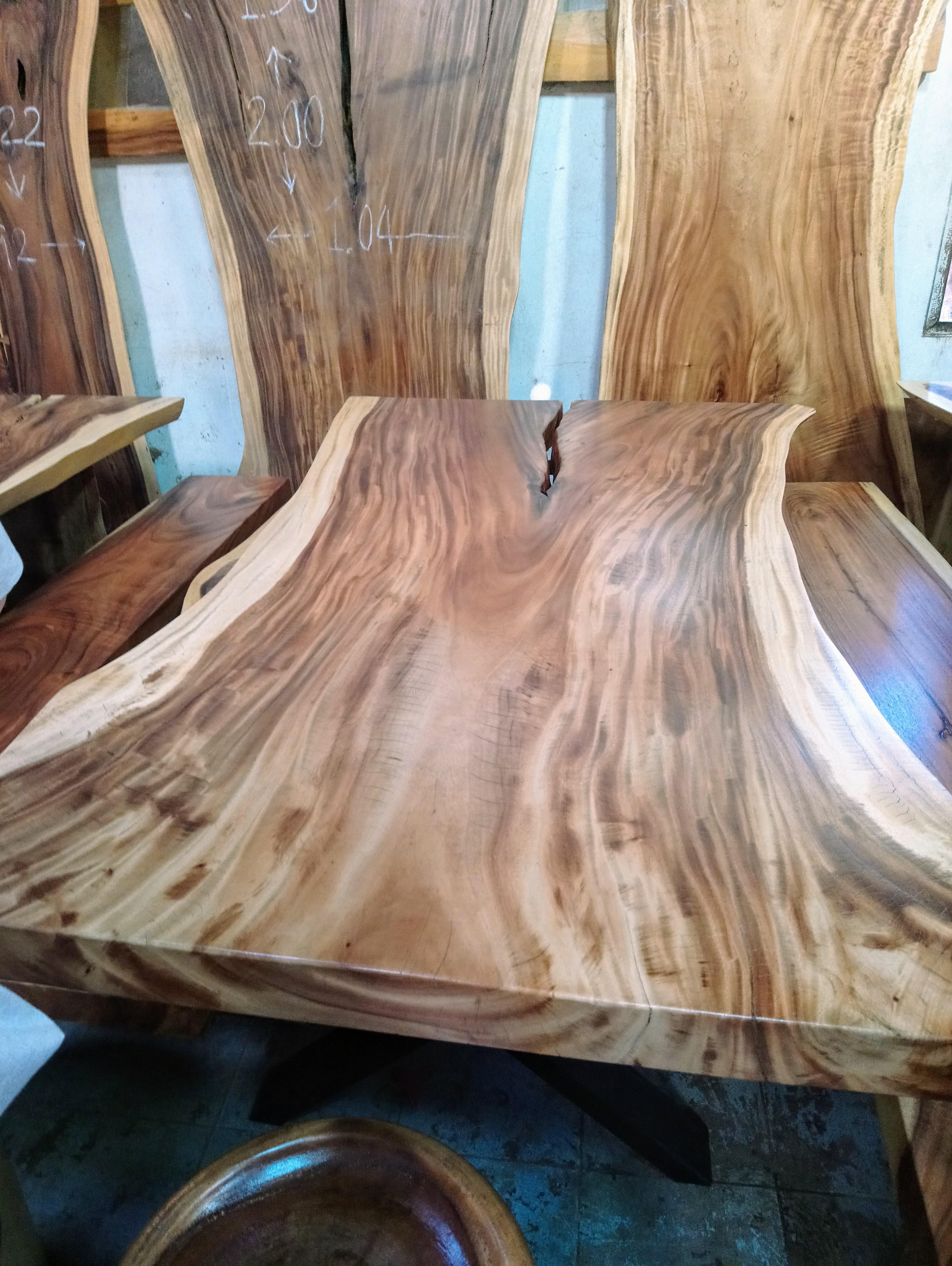 Large Rain Tree Wood Table_1596