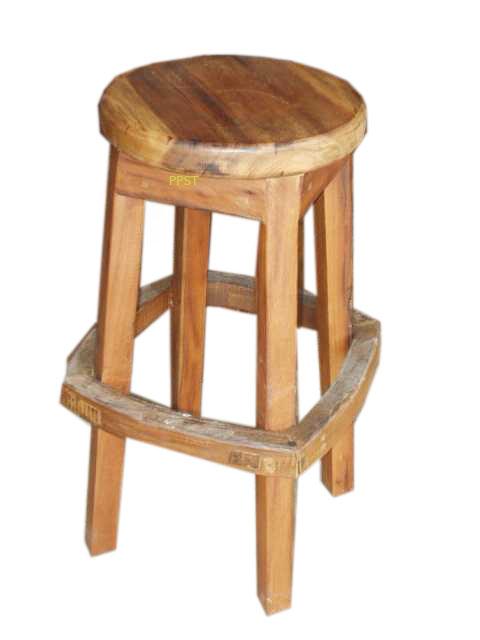 Teak stool-sn040