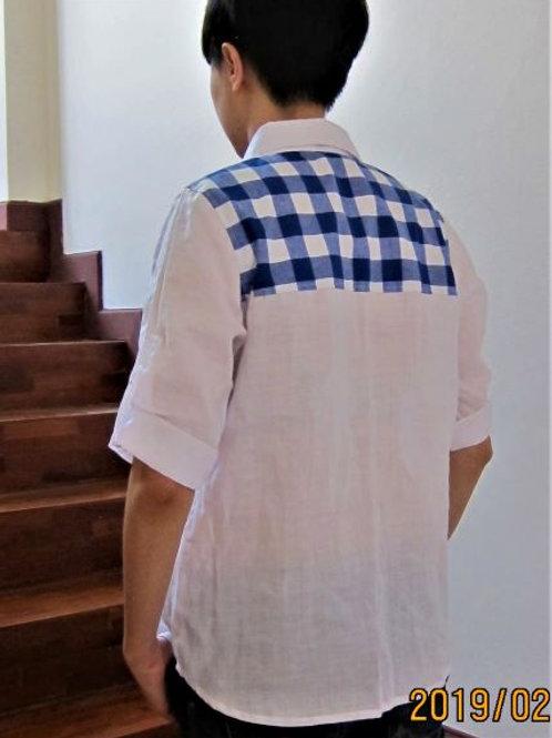 Linen and cotton women's shirt