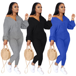 Solid color strapless fashion casual jumpsuit fall women clothing long sleeve one piece set women fa