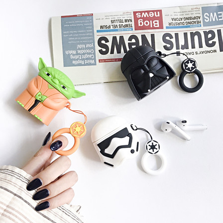 For Star Wars Cases Silicone Cute Cartoon For Airpods Accessories Soft Case Anti Shock Earphone Case