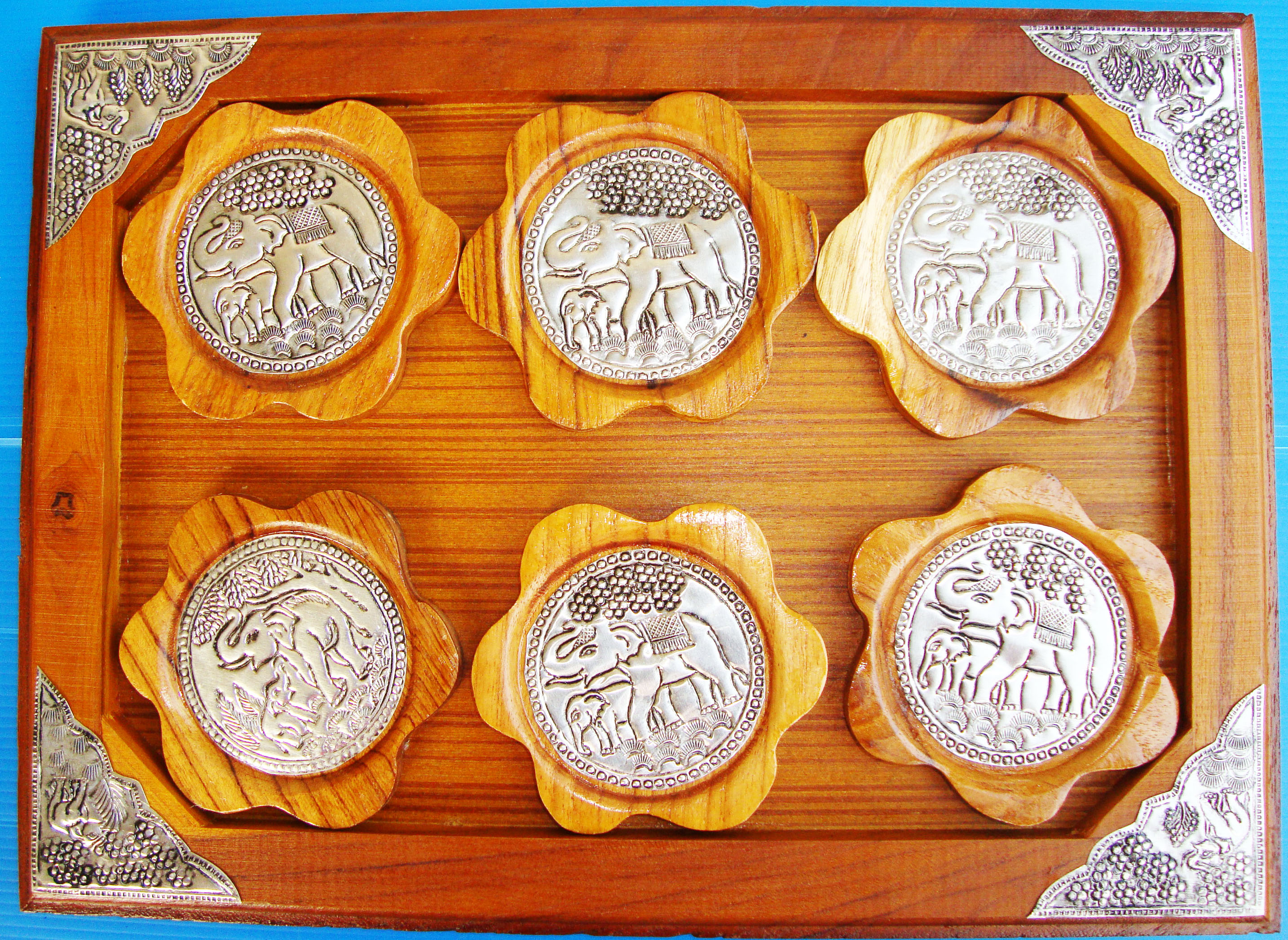 Teak Wood saucers 3340502