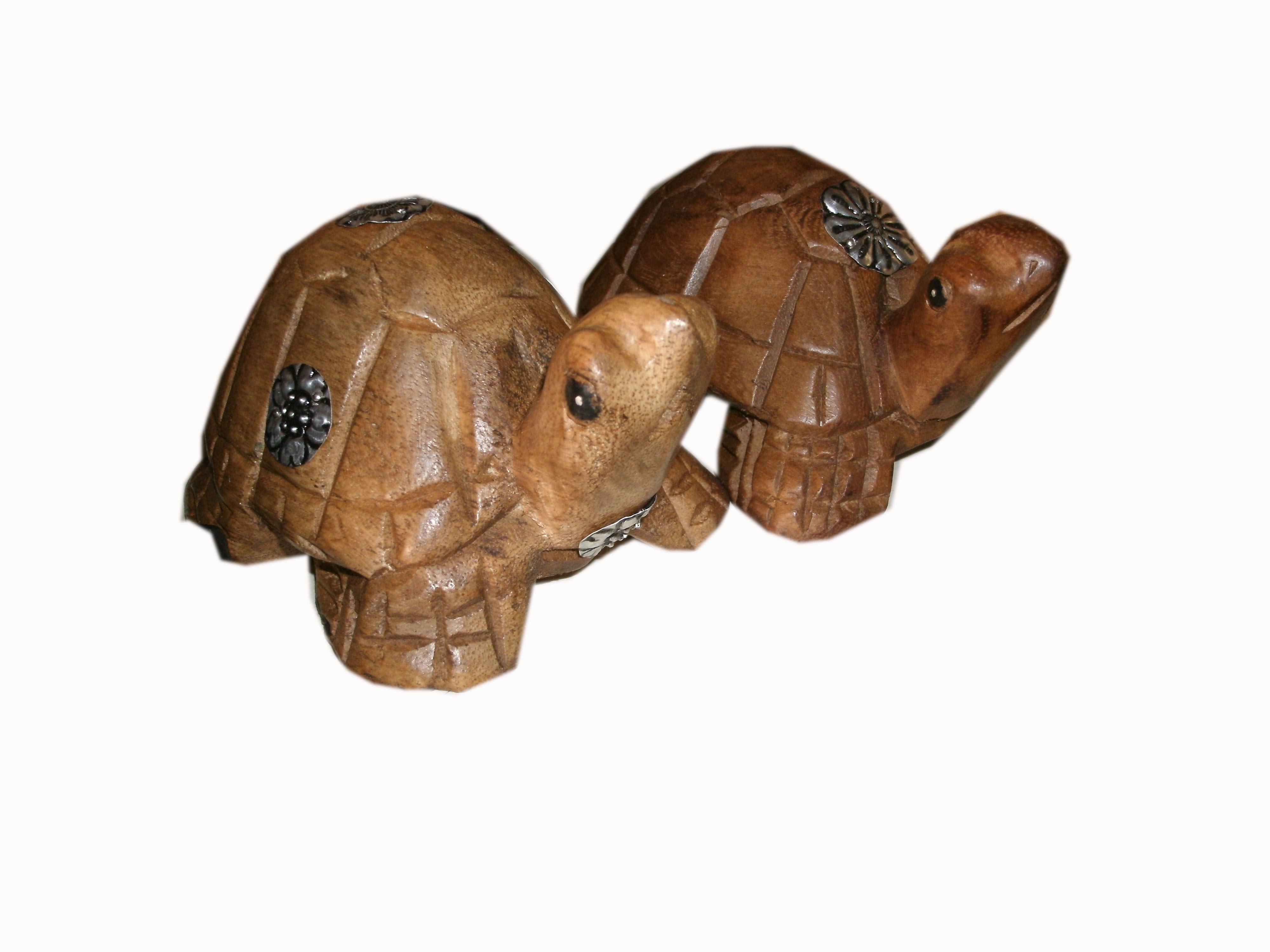 wood turtle figurine