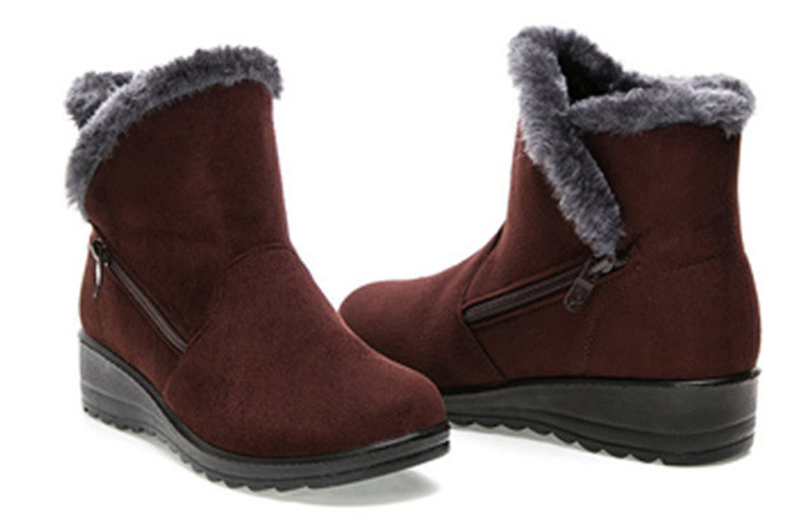 Winter Zipper Wedge Heel Keep Warm A