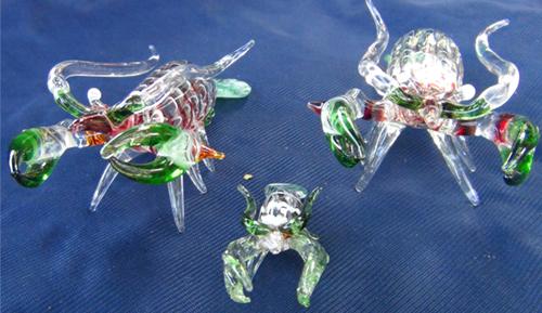 blown glass-shrimp